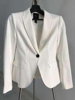 Forever 21 White Blazer