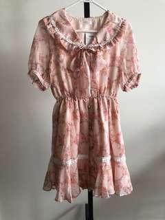 Japan brand new Liz Lisa pink floral dress