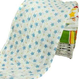 🚚 全新 星星款 二層薄款紗布被 空調被 可當抱毯 蓋毯