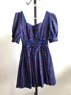 Japan Liz Lisa gothic checked dress
