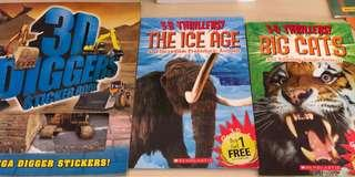 🚚 Non fiction books with 3D glasses and virtual reality app links