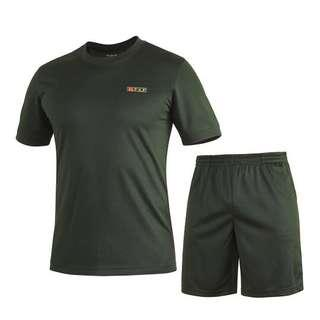 🚚 Green Dryfit Tee and Shorts