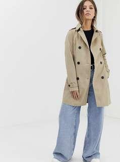 pimkie trench coat with tie in beige