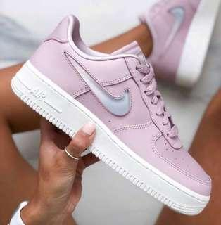 Nike Air Force pink jelly pudding