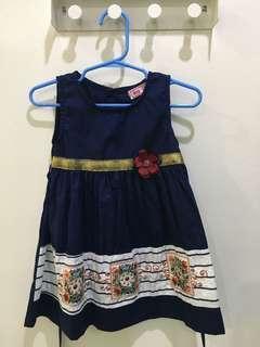 Navy Blue Girl Dress