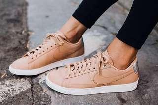 sale retailer c7be8 f9857 Authentic Nike Blazer Low Vachetta Tan Sneakers