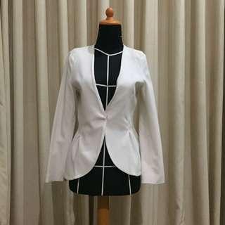Executive white blazer