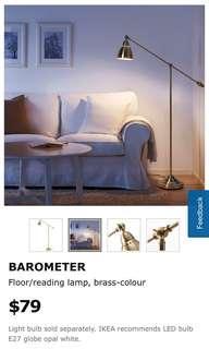 Tall Floor Lamp Silver