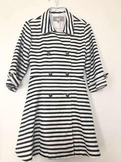 Stripe Coat Dress (M)