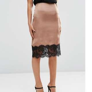 NWT ASOS Silk Lace Skirt