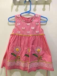 Watermelon Pink Toddler Dress