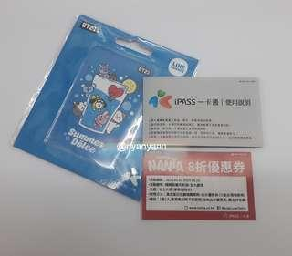 [Free giveaway the COUPON ONLY] BT21 Taiwan iPass Card