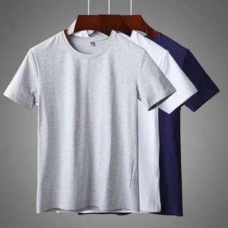 $200@3 男裝情侶裝簡約百搭襯衫打底日系日本男裝款式淨色棉質純色tee T恤 t shirt men top