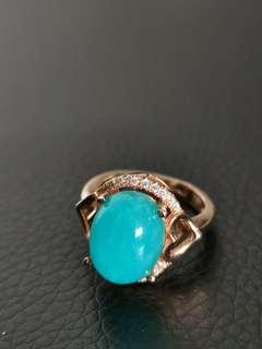 🚚 Amazonite S925 silver with rose gold plated ring