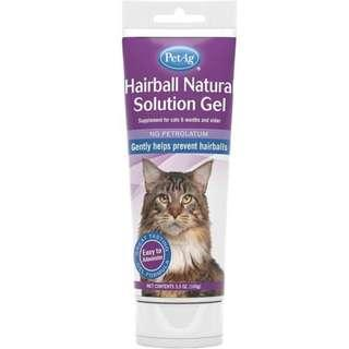 PetAg Hairball Natural Solution Gel Supplement for Cats 3.5oz