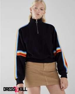 Color stripe trim sports jacket