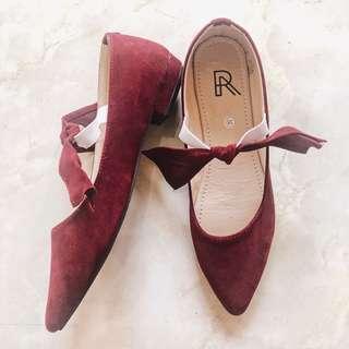 NEW - Maroon Flat Shoes (raitalexander)