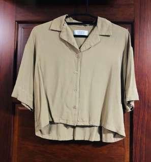 Lowrysfarm 短袖卡其襯衫