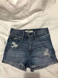 A&F Distressed/ frayed hem Denim Shorts