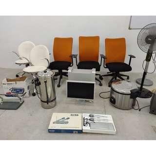 Garage Moving Office Sales! Orange chair - $30