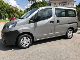 NISSAN NV200 1.5 M FOR LONG TERM RENTAL $60. CALL MR LEE @ 9299 4404 NOW