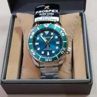 Seiko Sumo Prospex SZSC004 Green Dial Automatic Diver Watch, Stainless Steel Bracelet