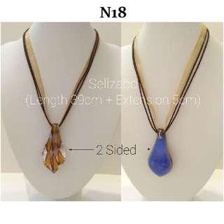 Neck Ribbons Straps : Two Sided Pendant Short Choker Necklaces Neckchains Sellzabo Accessories Wear Colour Ladies Girls Women Female Lady #N18