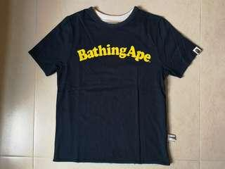 極新淨 極罕日版 Bathing Ape 雙面女裝Tee