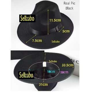Smart Hat Black Colour Formal Sellzabo Guys Mens Ladies Unisex Head Accessories