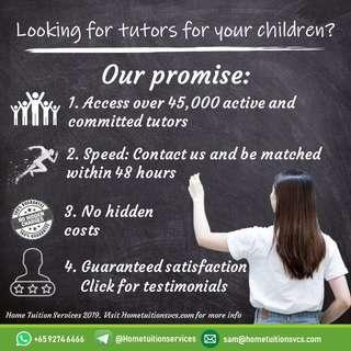 Primary and Secondary Home tuition