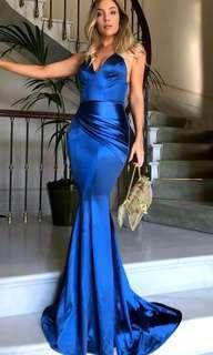 "PREORDER ""Royal"" Blue satin formal dress"