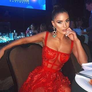 """PREORDER """"Eyes on you"""" red lace dress"""