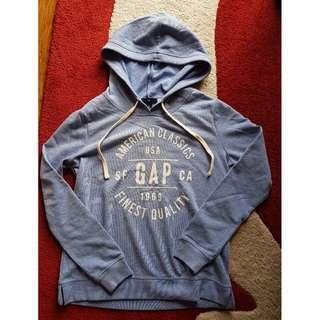GAP Women Soft Logo Pullover Hoodie Pullover Sweatshirt Light Cobalt Size S