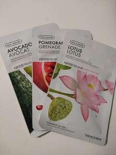 The face shop sheet masks