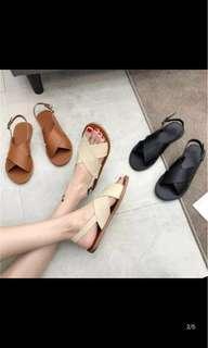 Cream White sandals