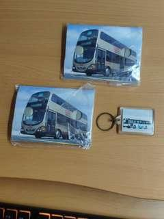 九巴前衛巴士 摺疊紙望遠鏡 x2 九巴機場巴士鎖匙扣