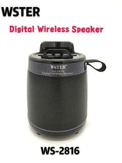 ORIGINAL WSTER WS-2816 Bluetooth Wireless Speaker Support TF Card FM Radio
