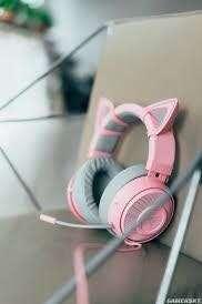 Razer 粉紅耳機 連貓耳