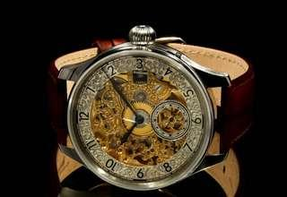 Le Coulter (Jaeger) skeleton hand-rolled watch