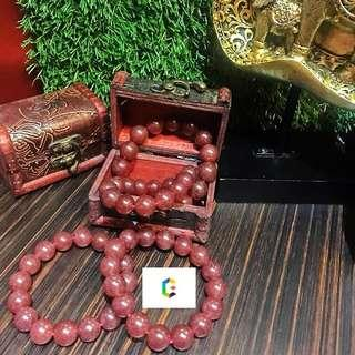 红草莓晶手串  Red Strawberry Quartz Bracelet