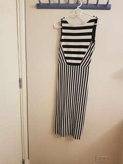 Zara Striped Bodycon Dress