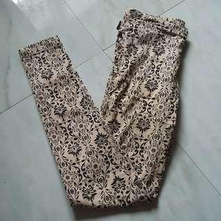 Celana Katun Motif Coklat