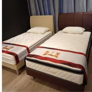 Super Single Bed Frame Showroom Display Set for Sale