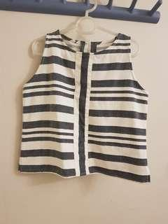 Nita Striped Linen Top