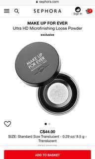 Makeup For Ever HD Setting Powder