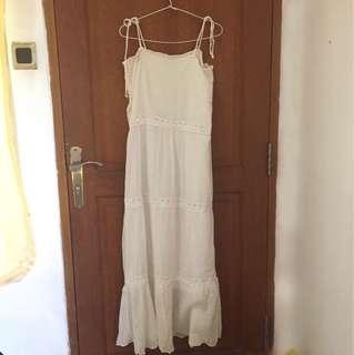 Vintage Maxi White Dress