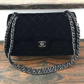 ffdf612bf9d2 Chanel Double Flap Velvet Sling Bag