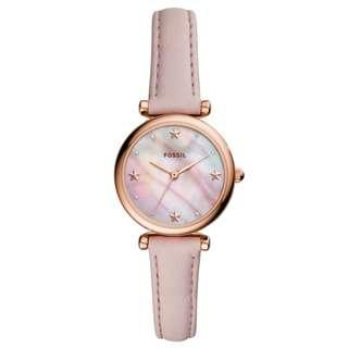 Fossil Carlie Mini Three-Hand Blush Leather Watch ES4525