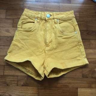 cottonon yellow shorts
