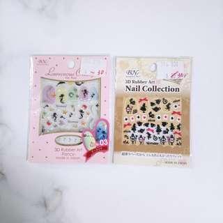 日本 正版 disney 人魚公主 愛麗絲 指甲貼 Nail Sticker